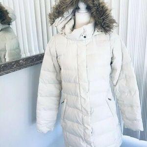 The North Face SZ M 600 Goose Down Jacket Faux Fur
